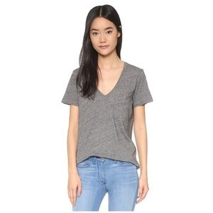 NWOT Madewell Whisper Cotton V Neck Pocket Tee